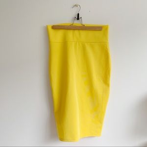Revamped Yellow Pencil Skirt | Size Large
